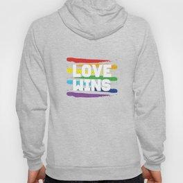 Love Wins Colorful LGBT Lesbian Gay Bisexual Transgender Gender Equality Gift Hoody