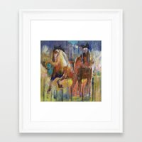horses Framed Art Prints featuring Horses by Michael Creese