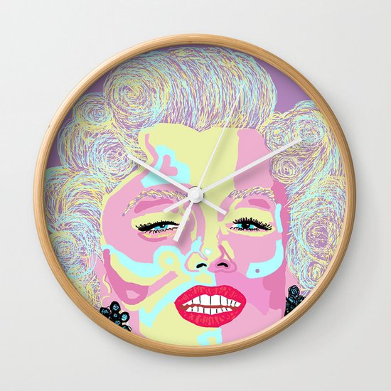 Marilyn M Wall Clock