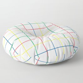Primary Windowpane Grid Floor Pillow