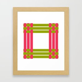 The intertwining pink and green ribbons Framed Art Print