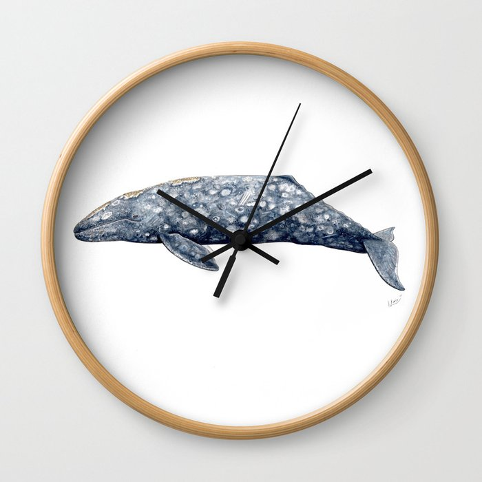 Grey whale Wall Clock