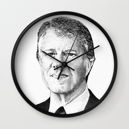 President Jimmy Carter Graphic Wall Clock