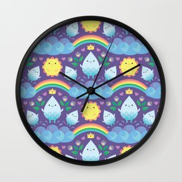 Happy water spirits Wall Clock