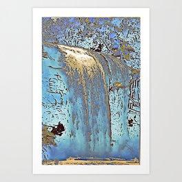 "series waterfall ""Cachoeira Grande"" III Art Print"