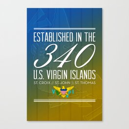 Established in the 340/USVI Canvas Print
