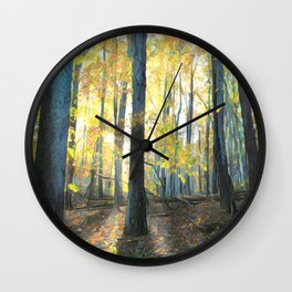 Backlit Forest Wall Clock