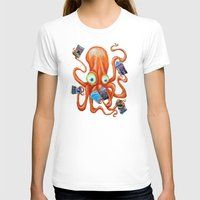comic book T-shirts featuring Comic Book Octopus by Bili Kribbs