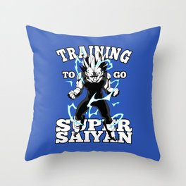 Training to go super saiyan Throw Pillow