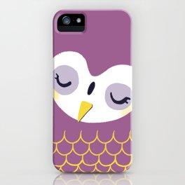 Little sleepy owl iPhone Case