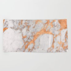 Copper Marble Beach Towel