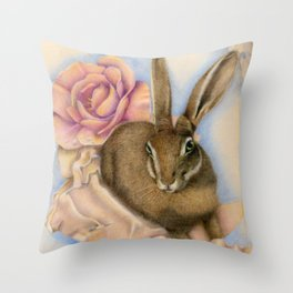 Hare Study Throw Pillow
