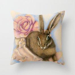 Hare Study Throw Pillow