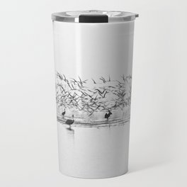 Flock of Terns and Pelicans in the Florida Bay Travel Mug