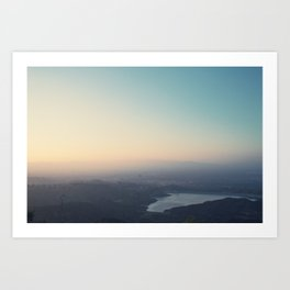 Sunset Reservoir Art Print
