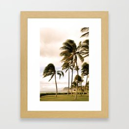 Vintage Hawaii Palm Trees Framed Art Print