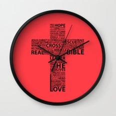 The base of it all it's love Wall Clock