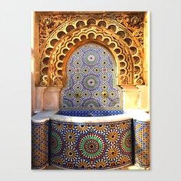 Moroccan water fountain Canvas Print