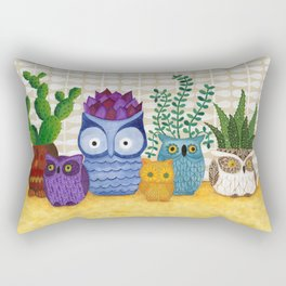 Collections of Owls Rectangular Pillow