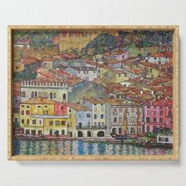 Gustav Klimt Malcesine On Lake Garda Serving Tray