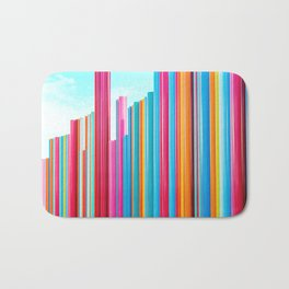 Colorful Rainbow Pipes Bath Mat