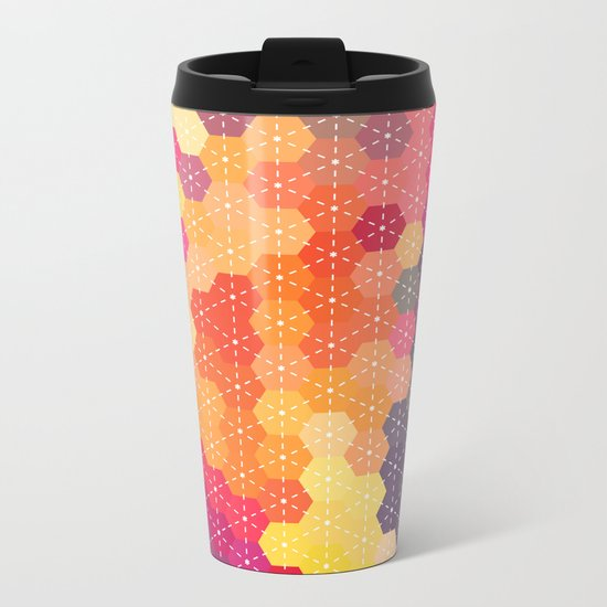 Summer Garden 4 Metal Travel Mug