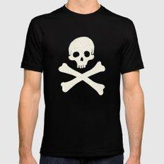 Skull & Crossbones MEDIUM Black Mens Fitted Tee