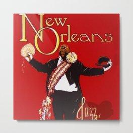 1976 New Orleans Jazz Festival Advertising Gig Poster Metal Print