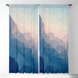 BE WITH ME - TRIANGLES ABSTRACT #PINK #BLUE #1 Blackout Curtain