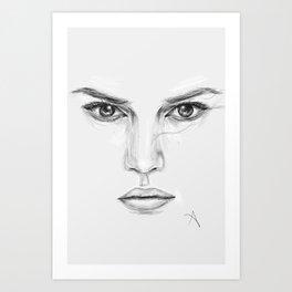 Rey/Daisy Ridley Portrait Art Print