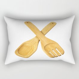 Spoon and fork Rectangular Pillow