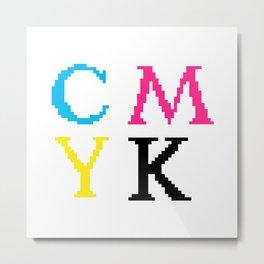 CMYK Metal Print