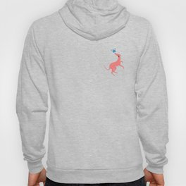 Pink Whippet Hoody