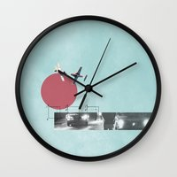 chicken Wall Clocks featuring Chicken by Rebecca Perry