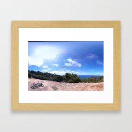 Blue Framed Art Print