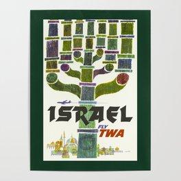 Vintage Israel Travel Poster Poster
