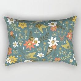 bright fun floral pattern Rectangular Pillow