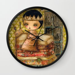 Sleepless Nights With The Princess And The Pea Wall Clock
