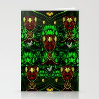 leather Stationery Cards featuring Leather Heads by Pepita Selles