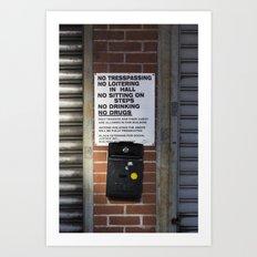 Untitled, No Drugs  Art Print