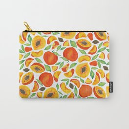 Peaches – Green Leaves Carry-All Pouch