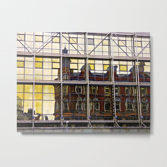 Reflections of Old Belfast Metal Print