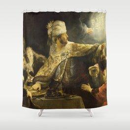 "Rembrandt Harmenszoon van Rijn, ""Belshassar's Feast"", 1636-8 Shower Curtain"