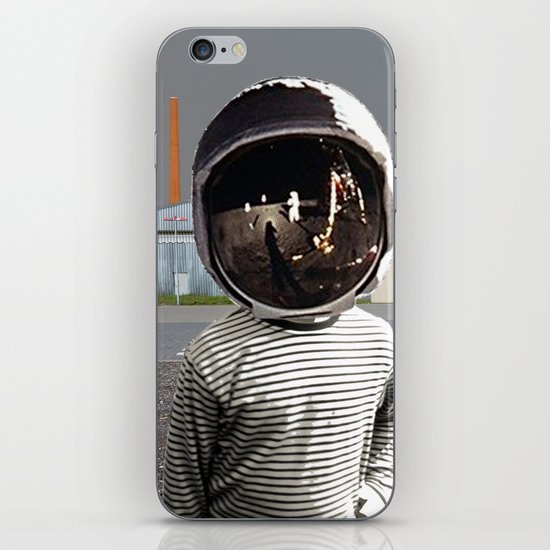 Space Kid in illusion City iPhone & iPod Skin