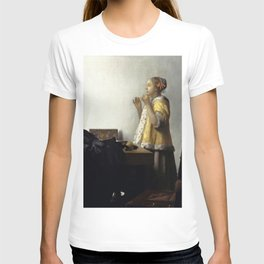Johannes Vermeer - Woman with a Pearl Necklace T-shirt