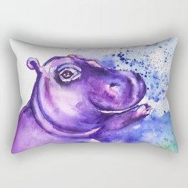 Fiona the Hippo - Splashing around Rectangular Pillow