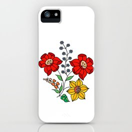 Hungarian placement print - white iPhone Case
