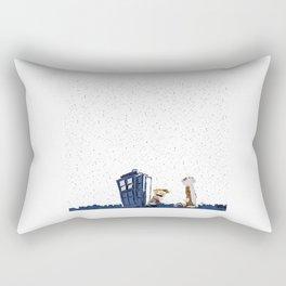 night star tardis Rectangular Pillow