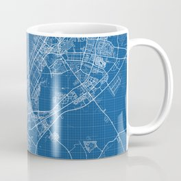 Dubai City Map of United Arab Emirates - Blueprint Coffee Mug