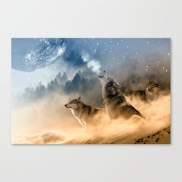 Moonrise Howl Canvas Print